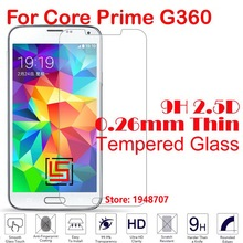 Cheap Ultra Thin 2.5D 0.26mm 9H Hard Hardness Phone Front Tempered Glass Cristal Verre For Samsung Galaxy Core Prime G360 G 360