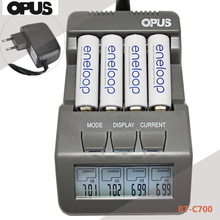 Opus BT-C700 NiCd NiMh LCD Digital Intelligent AAA 14500 AA Battery Charger Updated From BM110 EU US Adapter(China)