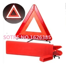 Professional quality Red Orange Plastic Roadway Warning Reflecting Triangle Board Plate