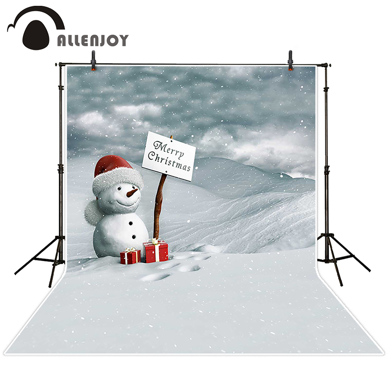 Allenjoy photographic background Snow Snowman Christmas gift backdrops baby wedding digital Excluding bracket 8x8<br><br>Aliexpress