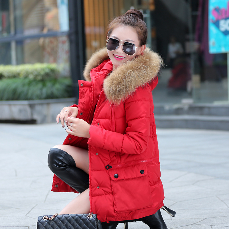 High quality Hot sale Woman new womens winter long cotton-padded big yards quilted jacket 2016 fashion Fur hooded coat YRF161117Одежда и ак�е��уары<br><br><br>Aliexpress