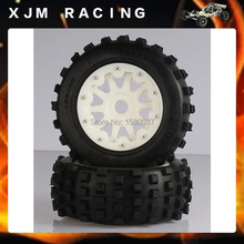 HD Nylon parts 5T / 5SC Rear BadLand tyres x 2 pcs of 1/5 R/C car baja parts