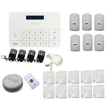 Wireless Home GSM SMS Telephone Security Burglar Sim Card Alarm Kit System LCD Screen Auto Dialing Dialer Call Wireless GSM Host