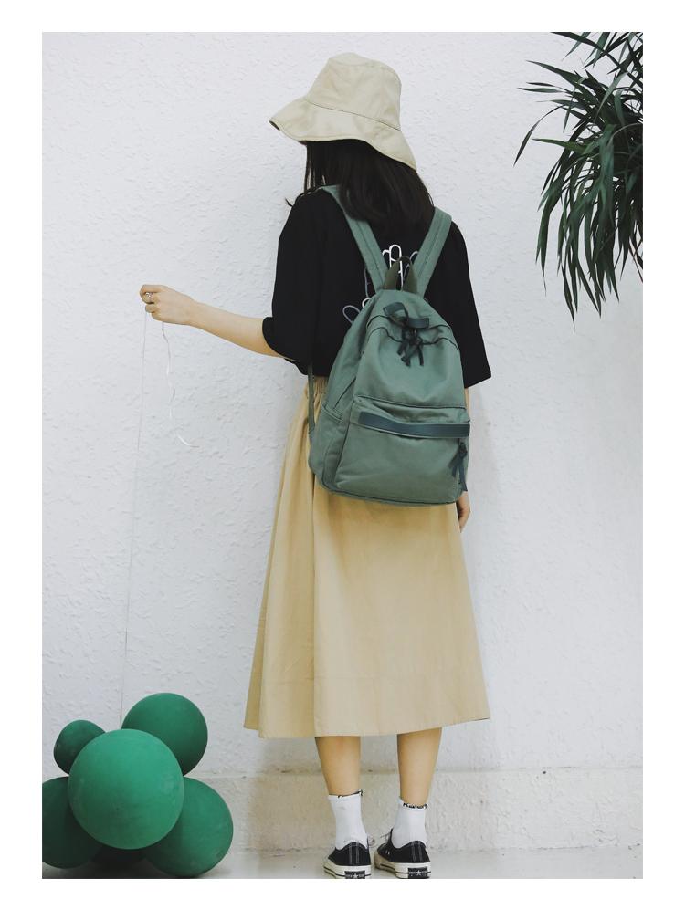 Menghuo High Quality Women Canvas Backpack Teenage Girls Leisure Backpack Bag Vintage Stylish Female School Bag Bookbag Mochilas (7)