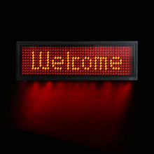 DIY LED electronic display LED badge business work card Ping scroll advertising screen light Trademark Breastplate Job number(China)