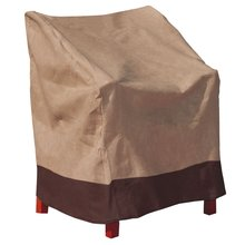 Brown Polyester Waterproof Patio Chair Cover Single High Back Chair Covers Yard Furniture Protective Cover Textiles Accessories