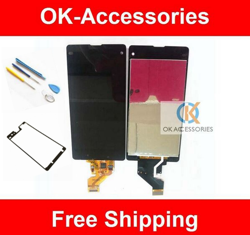 Black Color  For Sony Xperia Z1 Mini Z1c M51w D5503 Z1 Compact Display LCD+Touch Screen Digitizer 1PC /Lot<br><br>Aliexpress