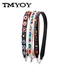 TMYOY 2017 colorful Flower Female handbag belt women bag strap you Geniune leather shoulder bag part you bolsa accessories VK214