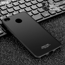 For Xiaomi Redmi 4X IMAK TPU Skin Feel Mobile Phone Shell Case with Anti-explosion Screen Film for Xiaomi Redmi 4X - Metal Black(China)