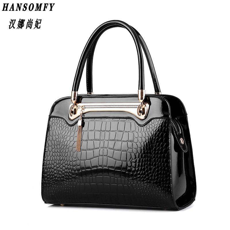 HNSF 100% Genuine leather Women handbags 2017 New Crocodile pattern Fashion European style single shoulder bag messenger handbag<br>