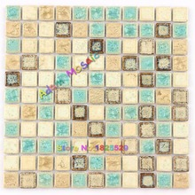 Green Glazed Tiles Wall Stickers Swimming Pool Floor Rustic Porcelain Tile Backsplash Kitchen interior design(China)