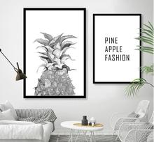 2017 Nordic PINE APPLE FASHION  painting on Canvas Poster Print  Plaints Picture For Living Room home decor 452