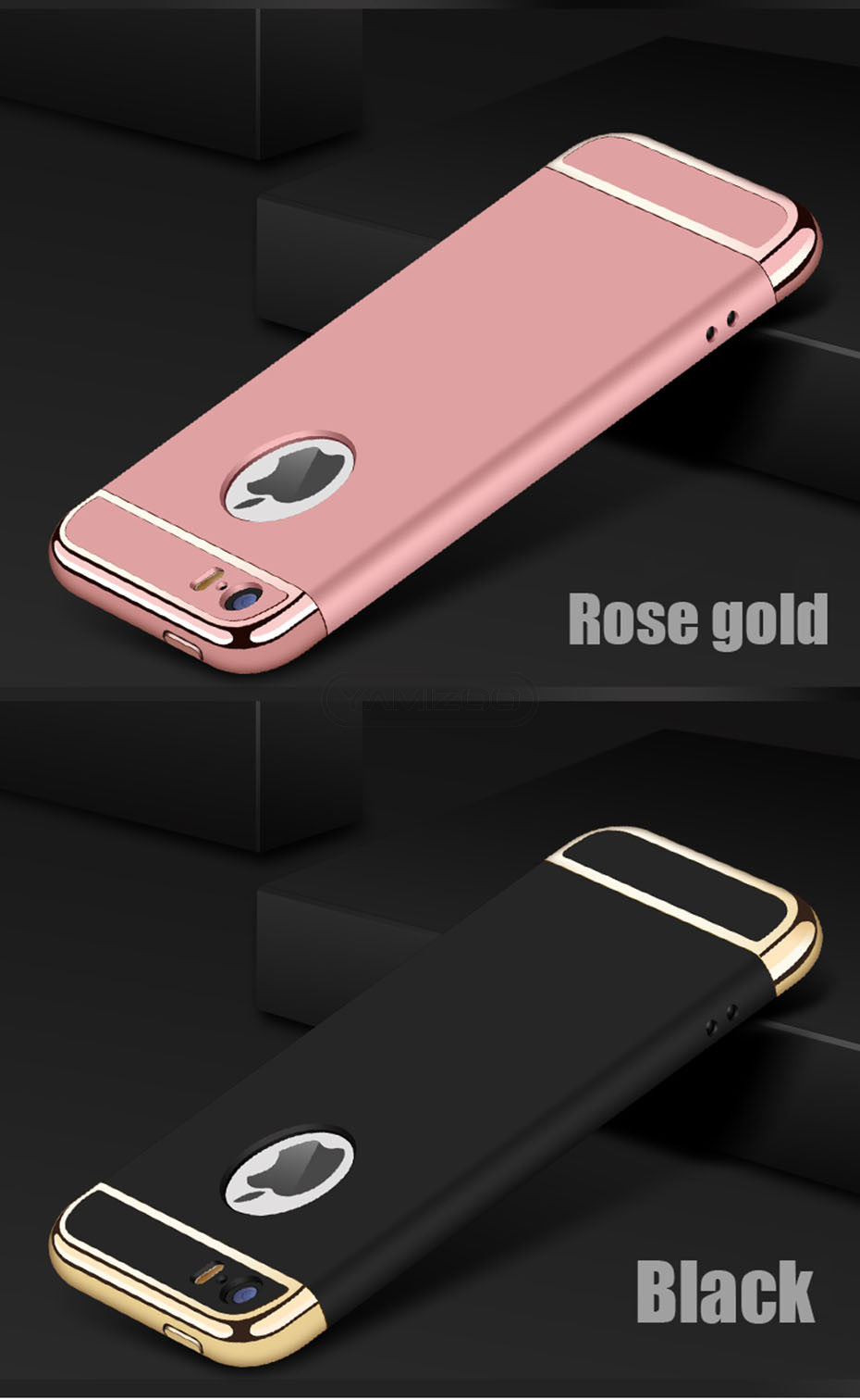 YAMIZOO 5s For iPhone se 5 Case 360 protection Phone Cases On Luxury Full Hard Plastic Coque Back Cover For iPhone 5s se 5 Case (1)