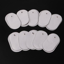 2017 New 10Pcs Silicone Gel Tens Units Electrode Replacement Pads For Massagers Practical