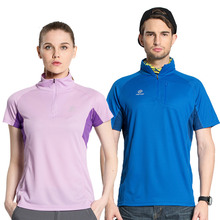 Tectop Women male quick-drying t-shirt stand collar running sports quick dry clothes ride service breathable lovers