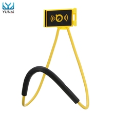 YUNAI 360 Flexible Cell Phone Selfie Neck Holder Bed Mount Stand Snake-like New Tablet Stand Car Holder For iPad For iPhone(China)