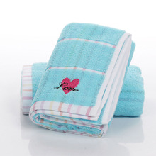 face towels cotton 2017 new fashion toalla havlu serviette heart Embroidered cotton towel