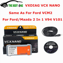2017 100% Original VXDIAG VCX NANO For Ford/Mazda 2 in 1 IDS V94 V101 Same As VCM2 VCM 2 VCMII Diagnostic Scanner Tool WIFI/USB