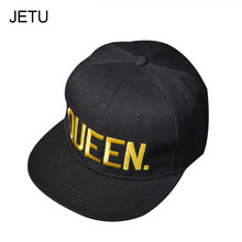 Hot Sale King Queen Snapback Caps For Men Women Cap Baseball Cap Fashion Hip Hop Hat Couple Embroidery Hat Bone Wholesale/Retail(China)
