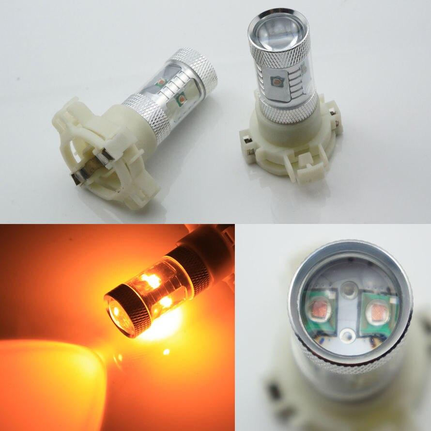 2x PY24W 5200s 30W LED AMBER Front Turn Signal Lights Bulb/Indicator bulbs For BMW BMW E90 E92 E93 328i 335i M3 <br><br>Aliexpress
