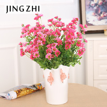 vase/  takes 11 head spring chrysanthemum flowers flower bouquet peacock silk flower wholesale flower placed Home Furnishing