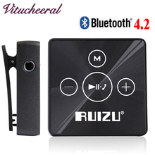 Original RUIZUX15 Bluetooth Sport MINI MP3 Player Support phone Bluetooth transmission Music with chip Car MP3 Bluetooth 4.2