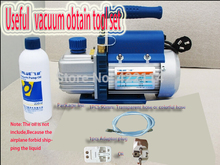 Cheapest Original Vacuum pump tool sets With 90cm Transparent or Colorful Hose and Adapter Plug