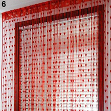 NEW Cute Heart Line Tassel String Door Curtain Window Room Divider Curtain Valance
