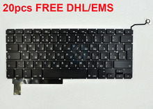"DHL/EMS FREE 20PCS ""L"" Enter Key Russian RU Layout Keyboard For Macbook Pro 15.4-inch A1286 Laptop Year 2009 2010 2011 2012"