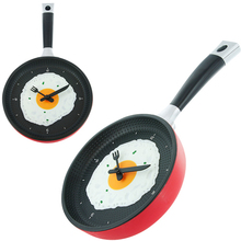 Omelette Fry Pan Kitchen Fried Egg Design Wall Clock Decor Egg Pan Clock Decor Wall For Kids Rooms Decoration Gift