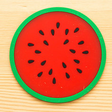 Modern Fruit Coaster Colorful Silicone Cup Drinks Holder Mat Tableware Placemat(China)