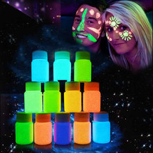 9 Colors Neon Fluorescent Body Paint Grow In The Dark Face Painting Luminous Acrylic Paints Art for Halloween Party YF2017(China)