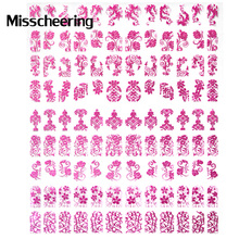 New 3d Mix Design Nail Art Stickers Decals 108pcs/sheet Rose Metal Unique Stylish Nail Accessory Manicure Beauty Nail Decoration