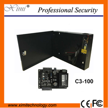 Linux system TCP/IP communication with 12V5A power supply box (battery function) ZK C3-100 one door access control panel