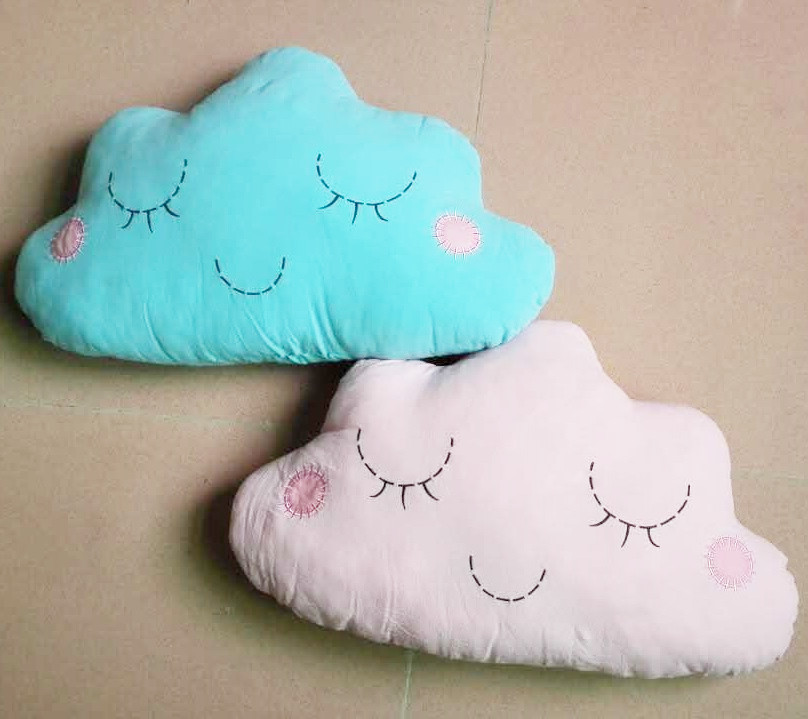 2 Colors 50x30cm Cartoon Smile Face Cloud Cushion Pillow Stuffed Cotton Dolls Girls Bed Room Decoration Toys For Baby Children<br><br>Aliexpress