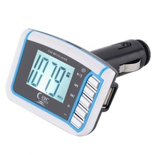 1PC Wholesale Remove Control TF Card 1.44 inch LCD Wireless FM Transmitter Car MP3 Player car audio car stereo New
