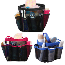 Latest Best Large Pockets Shower Hanging Caddy Organizer Bag for Bathroom Accessory Mirror T6YU