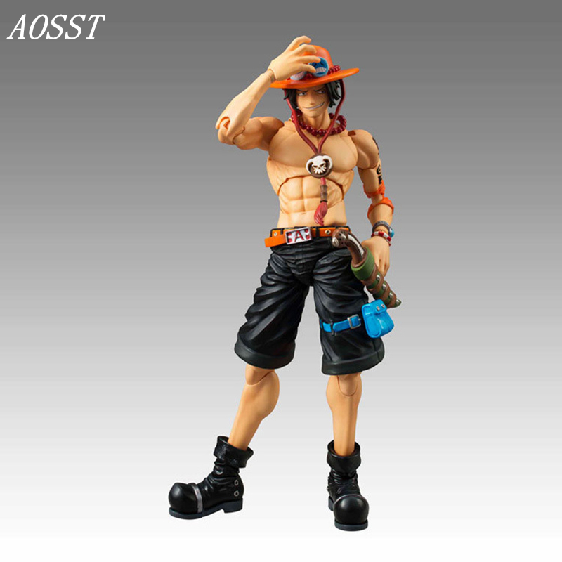 (AOSST) POP Anime One Piece Portgas.D.Ace Joint mobility Limited Edition PVC 18CM Action figure Doll Christmas Gifts For Child<br>