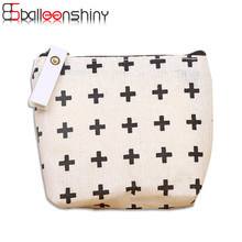 BalleenShiny 1Pcs Mini Canvas Coin Purse With Zipper Travel Outdoor Change Purse Pouch Carrying Organizer Holder Storage Tool
