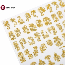 108PCS/Sheet Nail Art Sticker 3D Design Nail Art Decorations Nail Decal Manicure Stickers Nail Accessories Decals 8 Colors