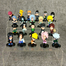 21pcs/lot Naruto Figure Toy Sasuke Kakashi Itachi Yondaime Hokake Pain Gaara Jiraiya Tsunade Mini Model Doll for Kids(China)