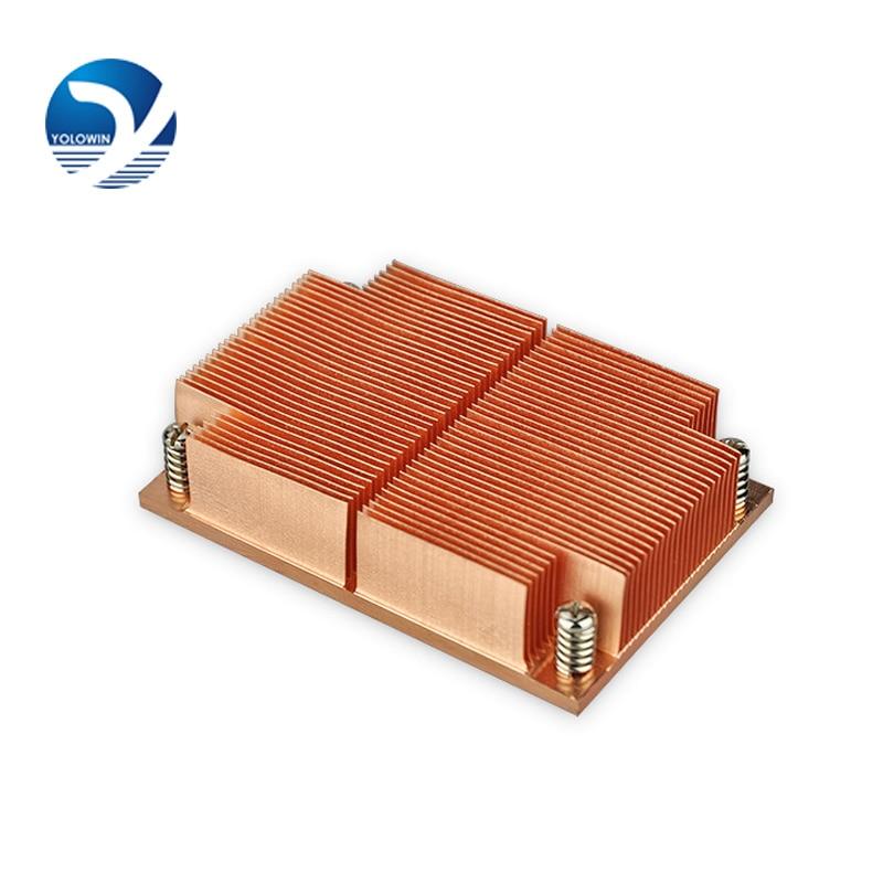 Electronics heat dissipation 100% New Passive CPU Copper skiving fin Heat Sink copper skiving fin Heat sink Radiator C9-01<br>