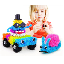 400Pcs Accessories To Build Mega Pack Animals+36Pcs Accessory DIY Assembling Spot Best Block Toys Set Magic Puffer Ball For Kids(China)