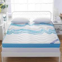 Knitted memory foam mattress, high-density thickening, anti-skid, single double four seasons folding bed, mattress, bed product(China)