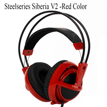 Red Color Headset Steelseries Siberia V2 Brand Noise Isolating Game Headphones fone de ouvido casque audio gaming headsets