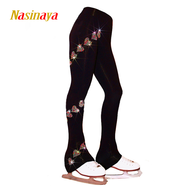 Customized Ice skating long pants Figure Skating pants fleece Trousers Adult Child Competition Performance rhinestone<br>