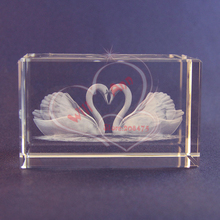 Love Couples Kissing Swan Crystal Wedding Gifts Centerpiece