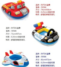 INTEX Cartoon Children Baby Swimming Pool Swim Seat Ring Float For 0-2 Years Rattle inside,Fire Rescue, Patrol Boat