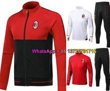 Top Quality 17 18 AC Milan survetement jacket Training suit kits soccer Jersey Top quality tracksuits BACCA KAKA L.ADRIANO footb(China)