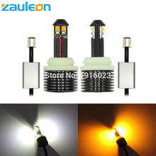 Zauleon 2pcs Canbus 1157 High Power LED Switchback Dual color White Amber Yellow for Car DRL Turn Signal Light No Error lamp(China)